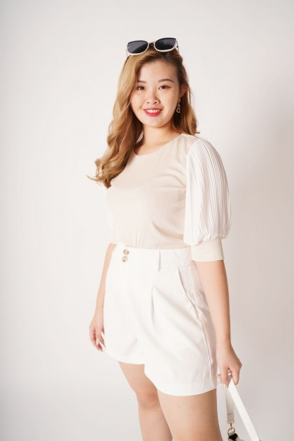 ReClassic Pleated Knit Blouse