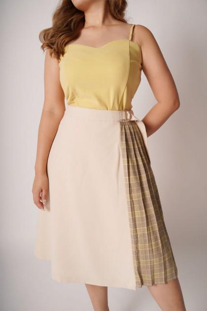 ReClassic Midi Plaid Skirt